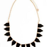 Black Triangle Bib Necklace
