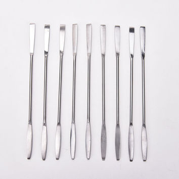 Women Stainless Steel Cosmetic Makeup Palette Spatula Spoon Stick Rod Cream Foundation Blender Mixing Tool Nail Art Accessories
