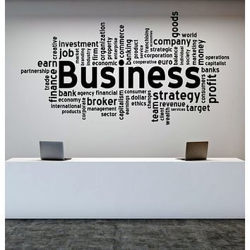 Vinyl Decal Wall Sticker Quote Business Words Company Finance Job Unique Gift (n1011)
