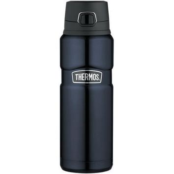 Thermos Stainless King&trade Stainless Steel Vacuum Insulated Drink Bottle - Midnight Blue - 24 oz