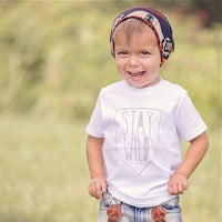 Stay WILD Tee, Toddler t-shirt, Trendy kids clothes, Hipster kids clothes, child t-shirt, Screen Printed Shirts, Graphic Tee