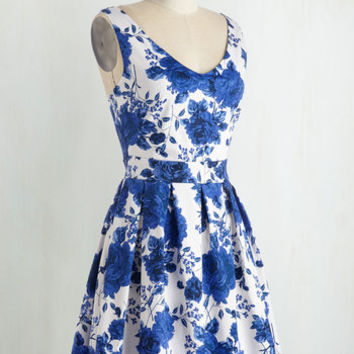 Bookmaking Brunch Dress in Roses | Mod Retro Vintage Dresses | ModCloth.com