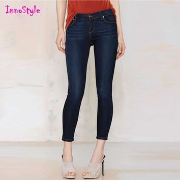 Denim cropped pants for womens slim fit capri pants ladies summer pencil pants fashion jeans trousers plus size skinny trousers