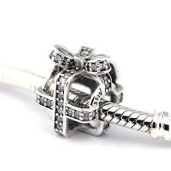 Pandora Charms All Wrapped Up Clear CZ Authentic Pandora