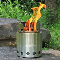 Outdoor Solo Stove Wood Burning Backpacking Stove Ultra Light Weight New FREE