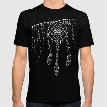 Shri Yantra / Dream Catcher T-shirt by Angelina May
