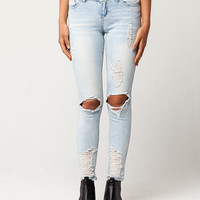 ALMOST FAMOUS Blowout Knee Womens Skinny Jeans | Skinny
