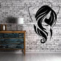 Beautiful Girl Long Hair Beauty Salon Decor Wall Mural Vinyl Sticker Art Unique Gift M287