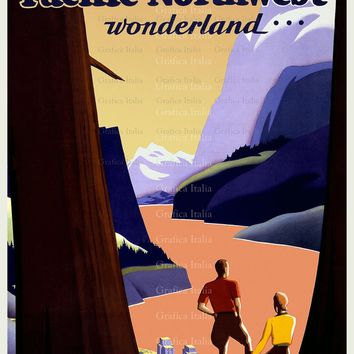 Visit The Pacific Northwest Travel Poster