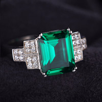 Emerald / Crystal Ring