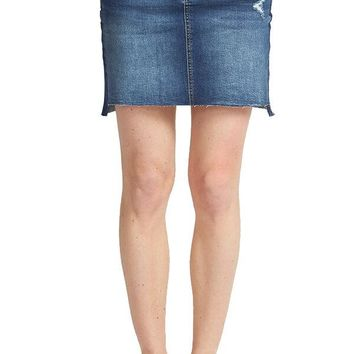 Dex Raw Denim Skirt