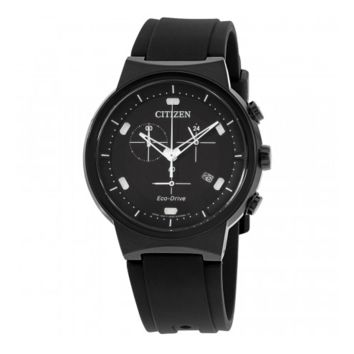 Citizen Men's Silicone Band Stainless Steel Watch