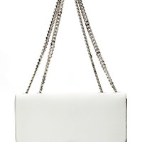 White Suede Trouble Shoulder Bag by Marc Jacobs - Moda Operandi