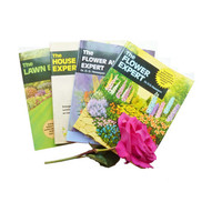 garden expert books by Dr D G Hessayon .set of 4  lawn,  flower , house plant and flower arranging expert . gardening . green fingers