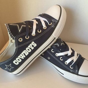 Dallas Cowboys: Canvas Shoes with Star Graffiti; Unisex but in Women's sizes