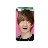 Bean Meets JUSTIN BIEBER Funny iPhone Case Cute iPod Case Hilarious Phone Case iPhone 4 iPhone 5 iPhone 4s iPhone 5s Silly iPod 5 Case iPod4