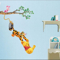 Winnie the pooh swing-wall decals wall sticker wall decal