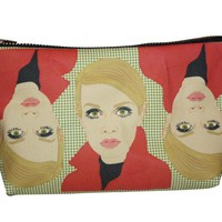 Twiggy Pop Zipper Pouch and Makeup Bag – Illustrated and Handmade in the USA