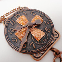 Steampunk Necklace Copper Clockworx Couture by DrBrassysSteampunk