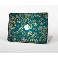 """The Green & Gold Lace Pattern Skin Set for the Apple MacBook Air 13"""""""