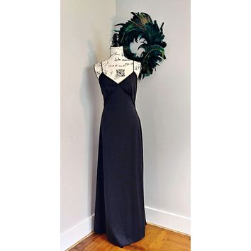Women's Vintage 1970's Long Evening Dress