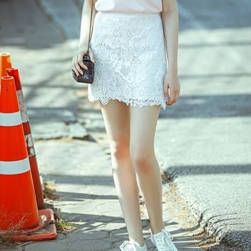 Women's Slim Lace Short Skirts