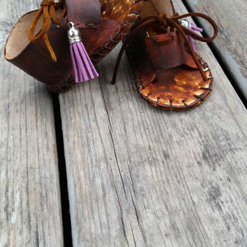 Leather Fringe baby sandals Custom colors bohemian baby sandals baby gladiator sandals gift for baby