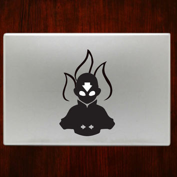 """Avatar Aang The Last Airbender m763 Decal Sticker Vinyl For Macbook Pro Air Retina 13"""" 15"""" Inches Laptop Cover"""