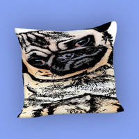 pugs alot dog for Pillow Case, Pillow Cover, Custom Pillow Case **