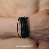 Black Leather Cords Magnet Bracelet