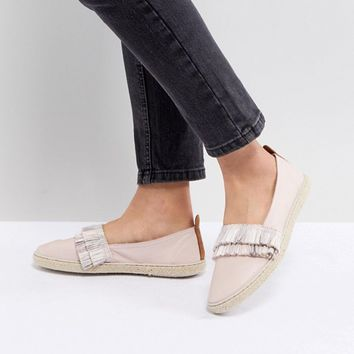 Kaltur Leather Fringed Espadrilles at asos.com