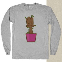 baby groot dancing t-shirt long sleeves happy feed