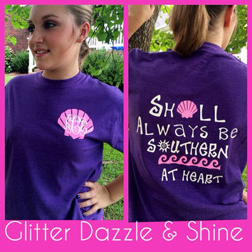 Glitter Monogram Seashell T-Shirt