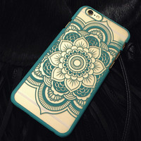 Green Hollow Out Lace Case Cover for iphone 5s 6 6s Plus Gift 177
