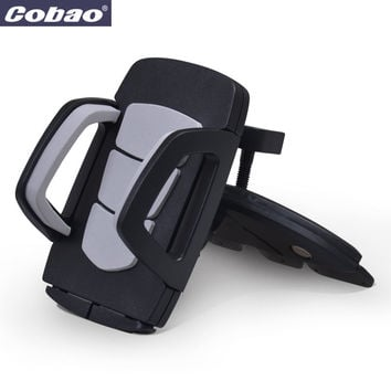 Coabao Soporte Movil Car CD Dash Slot Stand for Mobile Cell phone Holder Mount  for iphone 4s/5/6s plus samsung galaxy s6