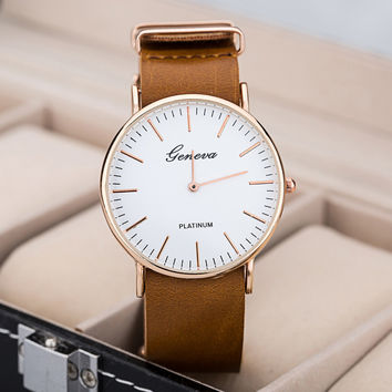 New Arrival Trendy Great Deal Gift Stylish Good Price Designer's Awesome Men Simple Design Quartz Unisex Watch [4933058500]