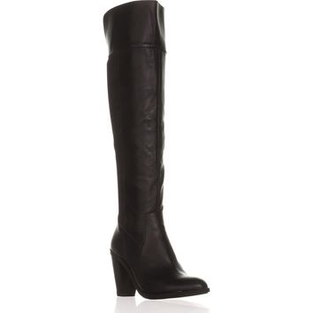 Kenneth Cole REACTION Very Clear Over-The-Knee Boots, Black, 7.5 US / 38 EU
