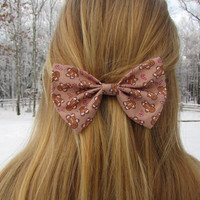 Gingerbread Men Winter Holiday Hair Bow