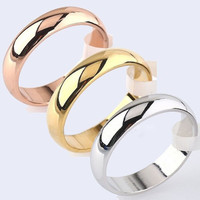 Men Women 4.5mm Width Band Ring Plain Engagement Wedding Titanium Steel Ring (With Thanksgiving&Christmas Gift Box)= 5617004865