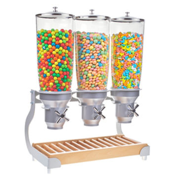 Triple Cylinder Tabletop Candy Dispenser: 1.4 Gallon