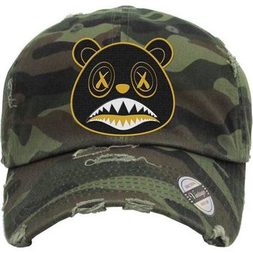 Blackout Gold Baws Army Camo Dad Hat