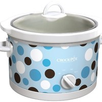 Crock-Pot SCR450-BP Slow Cooker, 4.5-Quart, Polka Dot Pattern