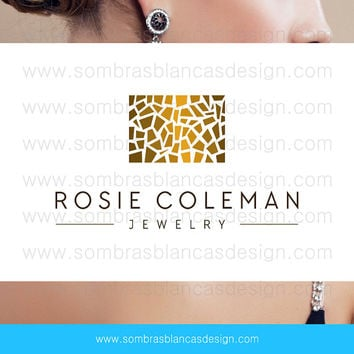 OOAK Premade Logo Design - Golden Texture - Perfect for a contemporary jewelry brand or a designer bags shop