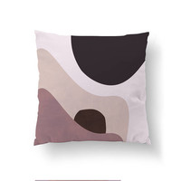 Pink Black, Decorative Pillow, Cushion Cover, Pattern Pillow, Home Decor, Throw Pillow, Abstract Art, Textured Watercolor, Geometric Shapes