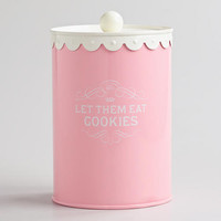 Let Them Eat Cookies Canister
