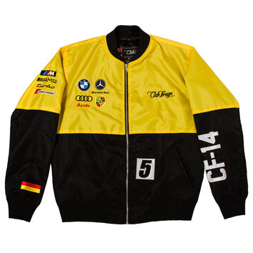 Club Foreign 2T German Race Jacket In Yellow/Black
