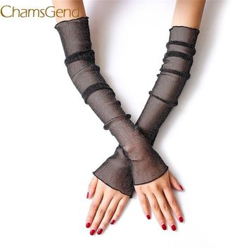 Chamsgend Ultra Thin Lace Long Arm Gloves Women Girl Summer Sunscreen Muti-purpose Leg Arm Covers Drop Shipping 170707