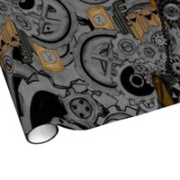 Steampunk Machinery Wrapping Paper