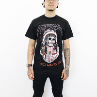 Yeezus Indian Skull T-Shirt (Black)