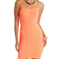 Textured Neon Bodycon Dress by Charlotte Russe